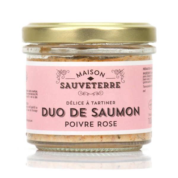 Duo saumon fumé et poivre rose à tartiner - 3 verrines de 100g