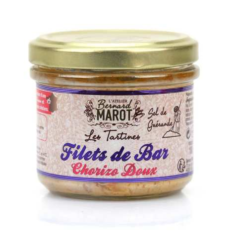 Bernard Marot - Bar au chorizo doux et sel de Guérande à tartiner