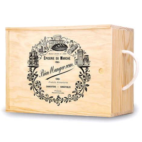 Les Ateliers de la Colagne - Decorated Wooden Box with sliding lid