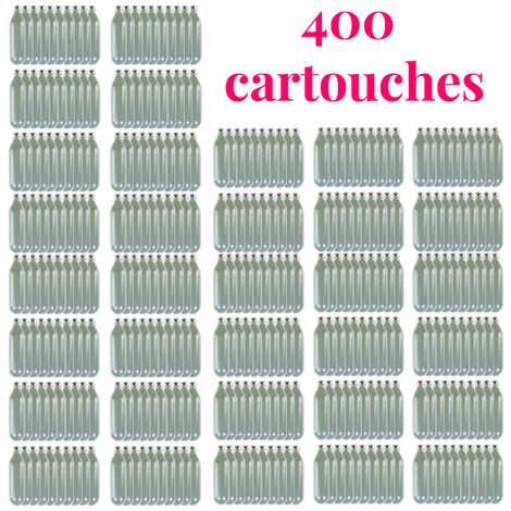 - 400 cartouches gaz siphon professionnelles N2O - Pour chantilly