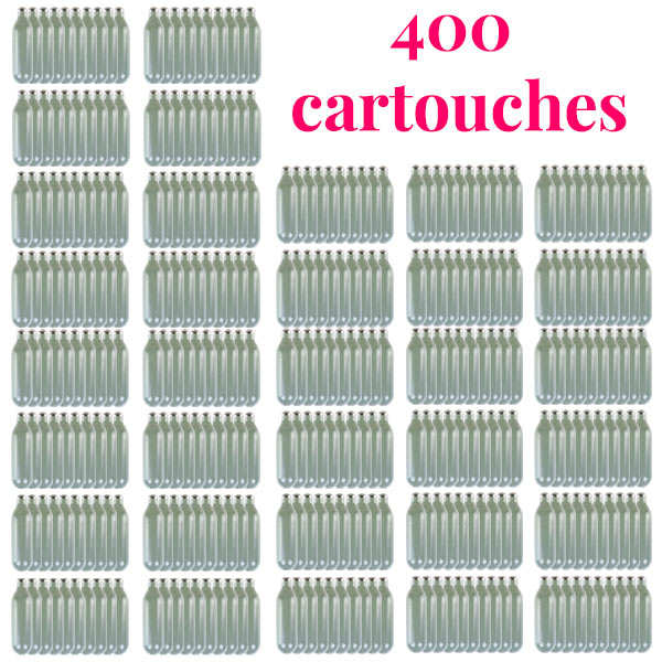 400 cartouches gaz siphon professionnelles N2O - Pour chantilly