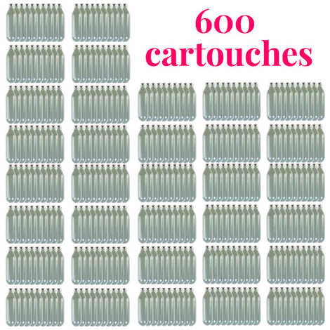 - 600 Chargers for whipped cream and mousse dispensers 360 N2O