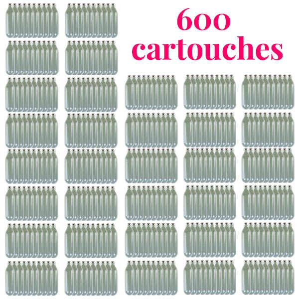 600 cartouches gaz siphon professionnelles N2O - Pour chantilly