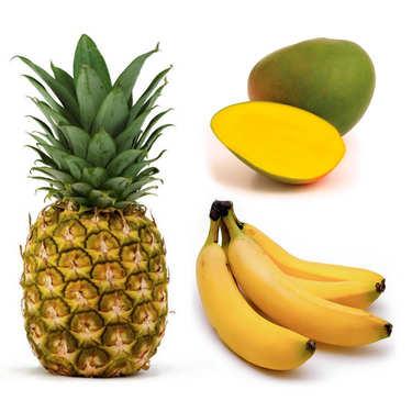 Assortment of organic exotic fruits