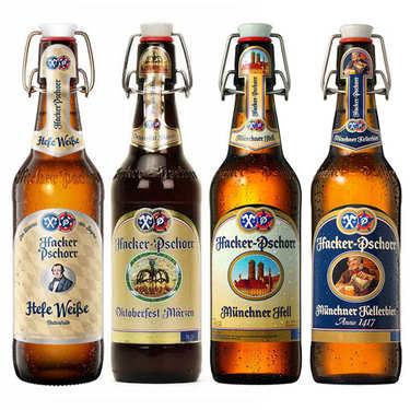 Lot découverte de 8 bières allemandes Hacker Pschorr