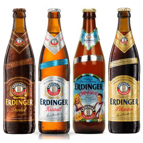 Assortiment découverte de 8 bières Erdinger
