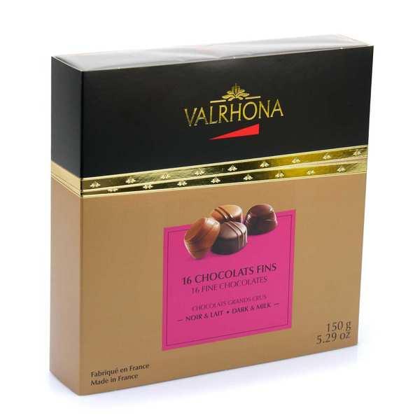 Coffret chocolats fins noir et lait - Valrhona