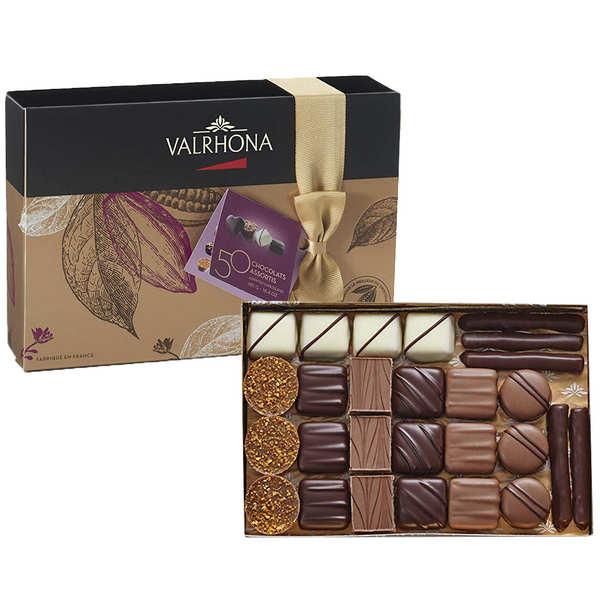 Ballotin assortiment de 50 chocolats - Valrhona