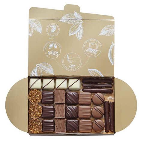 Valrhona - Ballotin assortiment de 50 chocolats - Valrhona