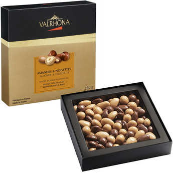 Valrhona - Coffret amandes et noisettes au grand cru chocolat lait et dulcey - Valrhona