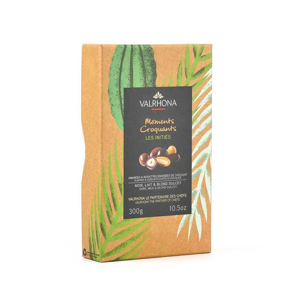 Coffret amandes et noisettes au grand cru chocolat lait et dulcey - Valrhona