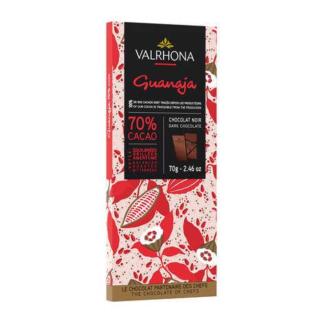 Valrhona - Bar of Dark Chocolate Guanaja 70% with Cocoa Bean - Valrhona