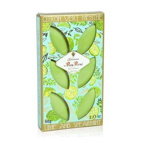 Le Roy René - French Calissons d'Aix - Decorated Case Lime and Mint