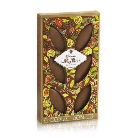 Le Roy René - Calissons d'Aix Roy René chocolat noisette - étui décoré