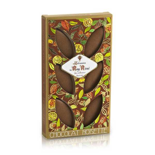 French Calissons d'Aix - Decorated Case Chocolat and Hazelnut