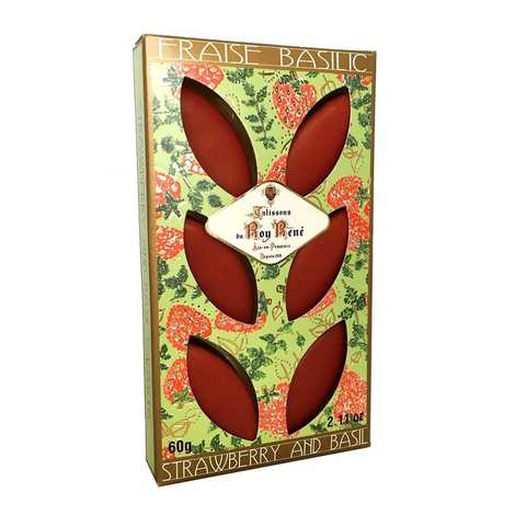 Le Roy René - French Calissons d'Aix - Decorated Case Strawberry and Basil