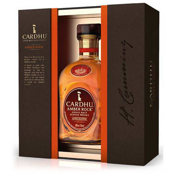 Cardhu Amber Rock 40% - Coffret whisky 2 verres