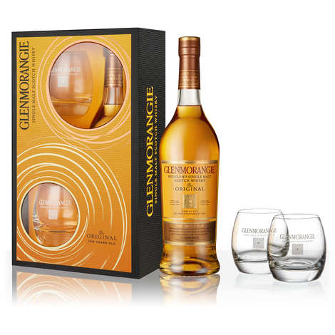 Glenmorangie - Glenmorangie 10 YO Whisky Gift Box with 2 glasses