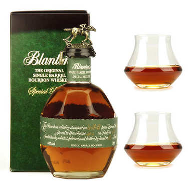 Blanton's Special Reserve Single Barrel Bourbon Whisky 40% and its glasses