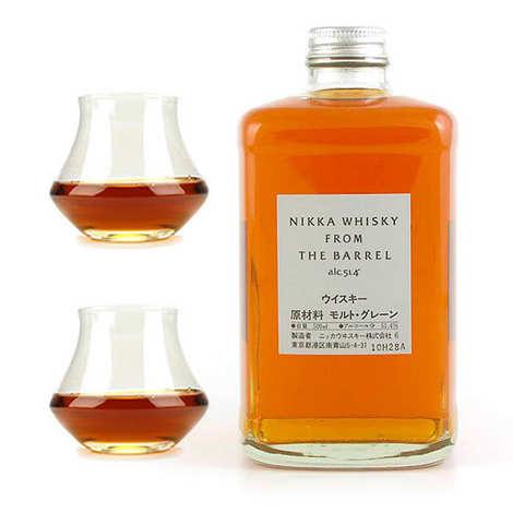Whisky Nikka - Whisky Nikka from the barrel 51,4% et ses 2 verres de dégustation