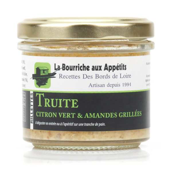 Trout Rillettes with lime and and Roasted Almonds