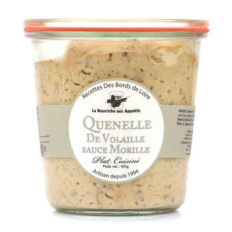 La Bourriche aux Appétits - Poultry Quenelle with Morel Sauce