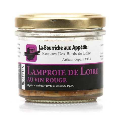La Bourriche aux Appétits - Rillettes de Lamproie de Loire au vin rouge