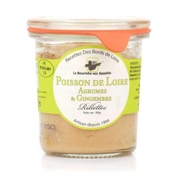 Rillettes de poisson de Loire aux agrumes et gingembre