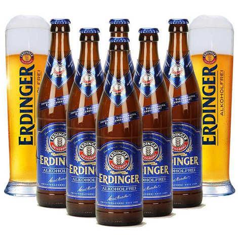 Erdinger - Erdinger lager alcohol free and 2 glasses discovery offer