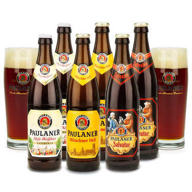 6 Paulaner Beers and 2 tasting glasses discovery offer