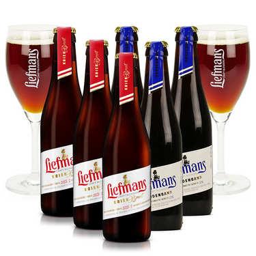 Assortiment 6 bières Liefmans et 2 verres de dégustation