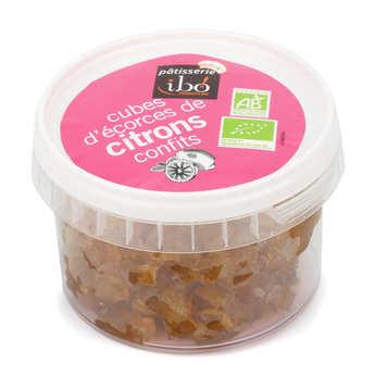 Ibo Produits Bio - Cubes d'écorces de citron confits bio