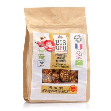 Biscru - Pépites de graines germées bio - Piment d'Espelette AOP