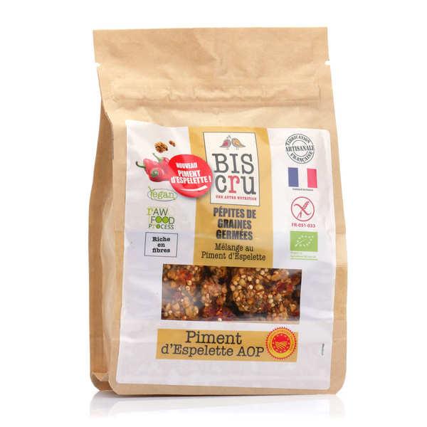Pépites de graines germées bio - Piment d'Espelette AOP
