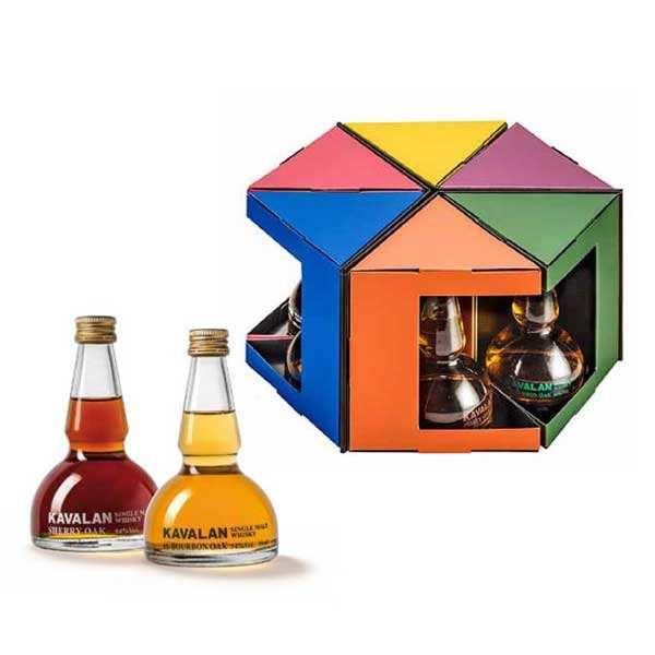 Coffret découverte des whiskies Kavalan - Coffret 6 alambics (6x5cl)