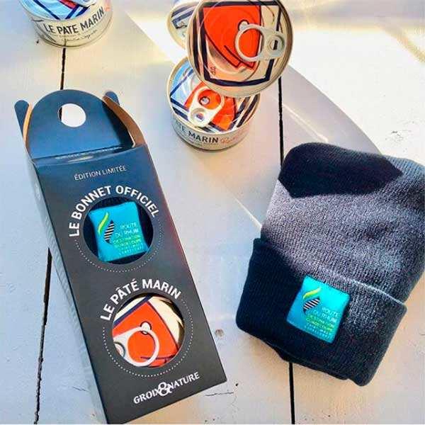 Coffret cadeau bonnet route du rhum et pâté marin de l'île de groix - coffret 1 pâté + 1 bonnet