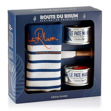 Groix & Nature - Coffret cadeau Route du Rhum 2 pâtés marins + couteau et torchon