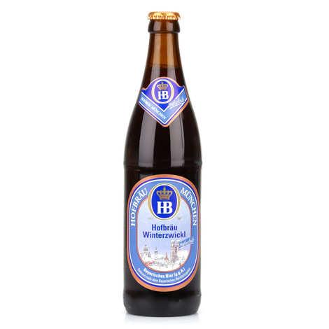 Brasserie Hofbräu München - Hofbräu Winterzwickl - bière brune d'Allemagne- 5.5%