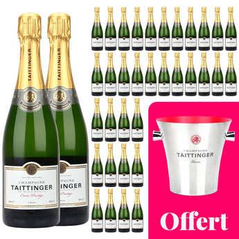 Champagne Taittinger - 36 bouteilles Champagne Taittinger Brut Prestige et 1 seau offert