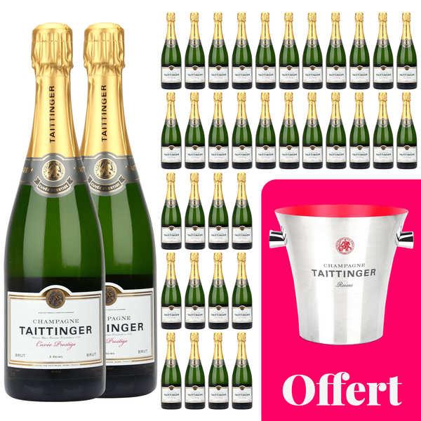 36 bouteilles Champagne Taittinger Brut Prestige et 1 seau offert
