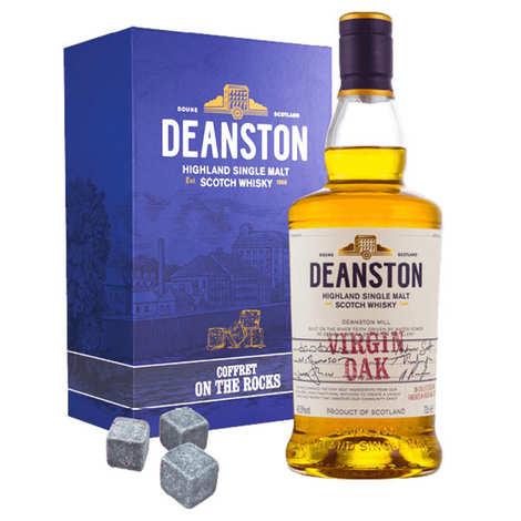Deanston - Whisky Deanston Virgin Oak - Coffret pierres à whisky -  46.3%