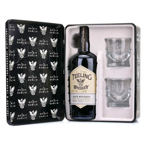 Teeling - Whiskey Teeling Small Batch - Metal case 2 glasses - 46%