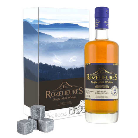 Whisky G-Rozelieures - Whiskey Rozelieures - Box whisky stone - 40%