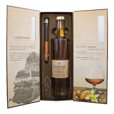 Rhumerie de Chamarel - Rum Chamarel Vanilla - Box 2 vanilla pods - 40%