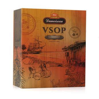 Damoiseau - Rhum Damoiseau VSOP - Coffret 2 verres -  42%