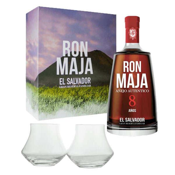 Rhum Maja 8 - Coffret 2 verres -  40%