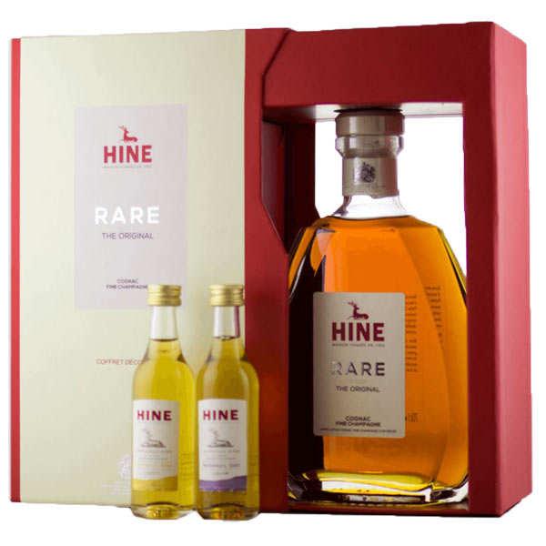Cognac  rare vsop - coffret découverte - 40% - bouteille 70cl + 2 mignonettes