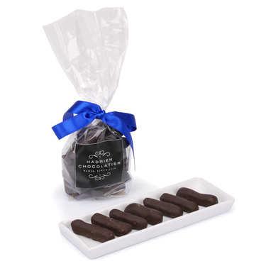 Candied Ginger Pieces in Dark Chocolate by Hadrien chocolatier