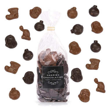 Friture de Noël noir et lait - Hadrien chocolatier