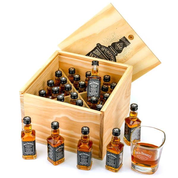 Coffret cadeau whisky Jack Daniel's 24 mignonnettes